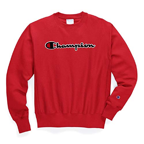 Champion RW Script Crewneck Sweatshirt (Red, Large)