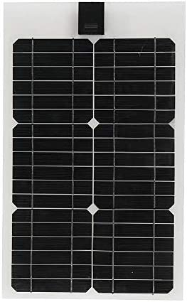 Panjianlin Solar-Panel 3m Kabel for Auto RV Boot 20W 12V Solar City Halb Flexible Solar-Panel Camping-Reisen (Color : Black, Size : 20W)