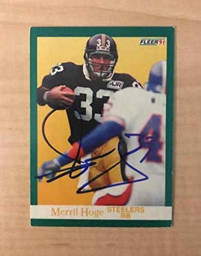 MERRIL HOGE PITTSBURGH PIRATES SIGNED AUTOGRAPHED 1991 FLEER CARD #161 W/COA