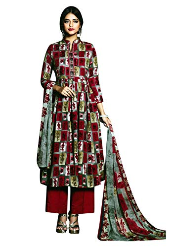 ladyline Rayon Printed Salwar Kameez Ready to Wear Womens Indian Dress Bollywood
