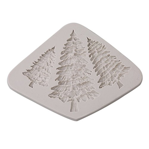 HS Silicone 3D Christmas Tree Shape Fondant Cake Mold Candy Chocolate Sculpting Tools - Tree Chocolate Mold