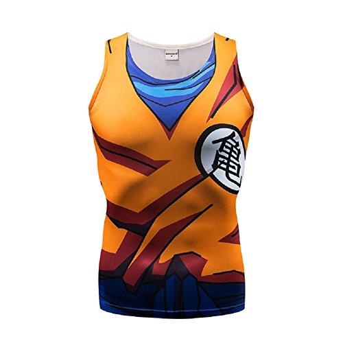 Dragon Ball Z Tank Top 3D Cartoon Print Muscle Top Goku Cosplay Compression Vest ()