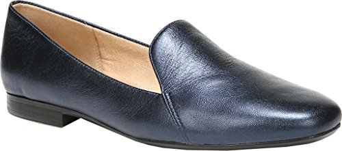 Naturalizer Womens Emiline Loafer Inky Navy Metallic Leather Us 9 W