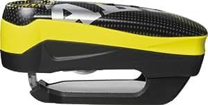 Abus 7000 RS1 Detecto - Candado para disco de freno (incluye funda, 50 x 100 mm), color amarillo
