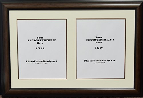 University Frame Double (Graduation University Double 8x10 certificates or photo openings frame and matted)
