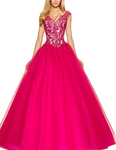 yilis-a-line-tulle-v-neck-lace-quinceanera-dress-formal-long-wedding-prom-dress-fuchsia2