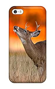 David Shepelsky's Shop 1846897K186123672 deer young alone sunset animal Anime Pop Culture Hard Plastic iPhone 5/5s cases