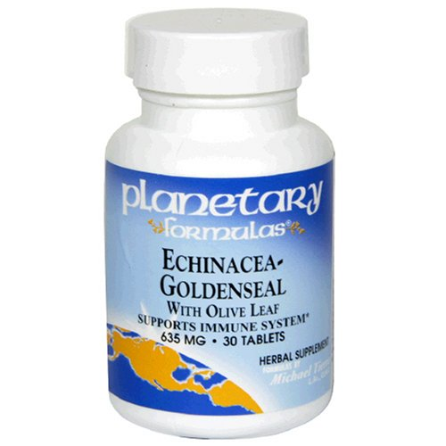 Planetary Formulas Echinacea-Goldenseal With Olive Leaf, 635 mg, Tablets, 30 tablets (Pack of ()