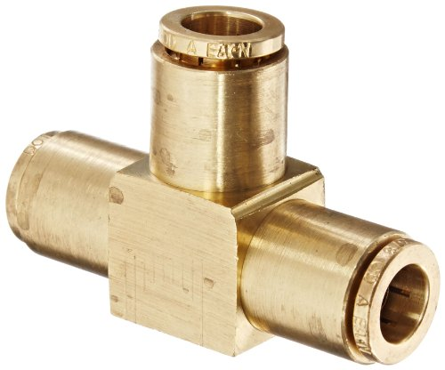 Eaton Weatherhead 1864X6 Brass CA360 D.O.T. Air Brake Tube Fitting, Union Tee, 3/8'' Tube OD by Weatherhead