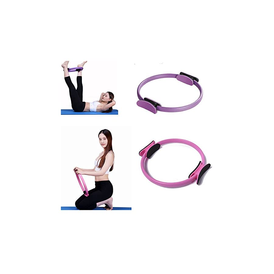 Funshow Pilates Ring Circle Magic Exercise Equipment Inner Thing and Total Body Workout Best Fitness Circle Variable Resistance for Yoga