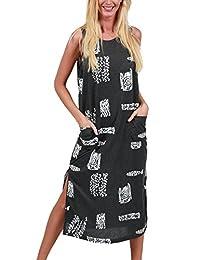 Ingear Beach Long Cotton Tank Dress