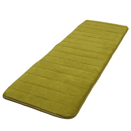 Bath Mats - 120x40cm Absorbent Nonslip Memory Foam Bedroom Door Floor Mat Rug Carpet Olive Drab - Clearance Bamboo Plastic Suction Runner Chenille Small Burgundy Reglazed Towels Pillows G