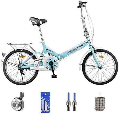 SYLTL 20in Folding Bike Unisex Adecuado para Altura 140-180 cm ...