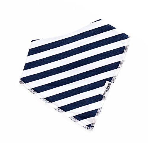 Bandana Bibs Perfect for Baby Registry, Adjustable Snaps, Ultra Absorbent & Super Soft 4-Pack, Unisex Baby Gift Set for Boys or Girls (Navy,Red,Orange,Gray) by IsaacDogg Baby