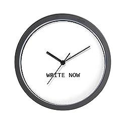 CafePress - Wall Clock - Write Now - Unique Decorative 10 Wall Clock