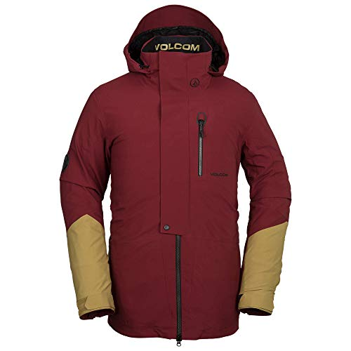 Volcom Men's BL Gore-Tex 2 Layer Stretch Snow Jacket, Burnt red, Large