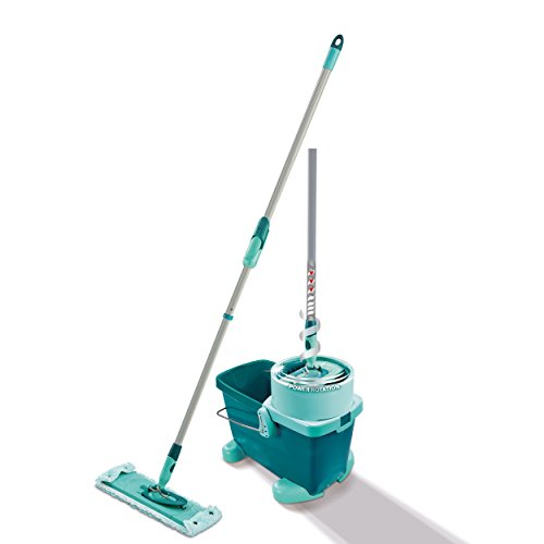 Leifheit Clean Twist XL with Rolling Cart, Floor Cleaner, Mop, Mop Bucket, Mint Green, 42 cm, 52049 by Leifheit