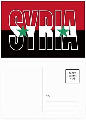 DIYthinker Gracias Siria Bandera Nombre del país tarjetas ...