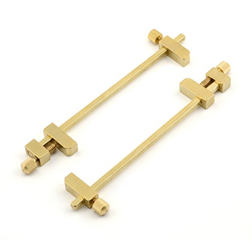 Solid Brass Miniature Bar Clamps, 3/4 Inches Long (Set of 2)
