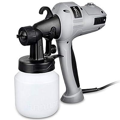 Paint Sprayer Spray Gun - Electric Paint Sprayer Gun 400w Spray Paint Gun with Three Spray Patterns, Adjustable Valve Knob, Flow Control and 800ml Container for Home Indoor Outdoor Painting