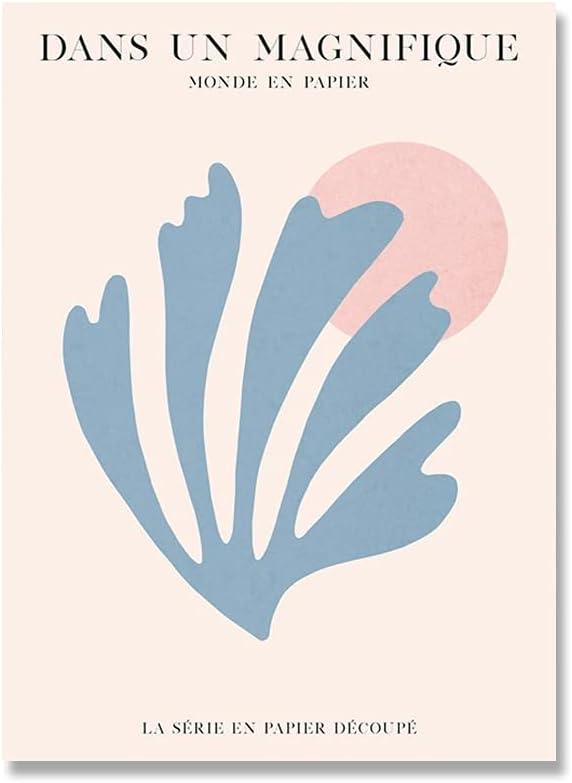 Matisse hojas coloridas paisaje marino abstracto arte de la pared carteles nórdicos e imágenes impresas pinturas de lienzo sin marco familiares A6 60x90cm