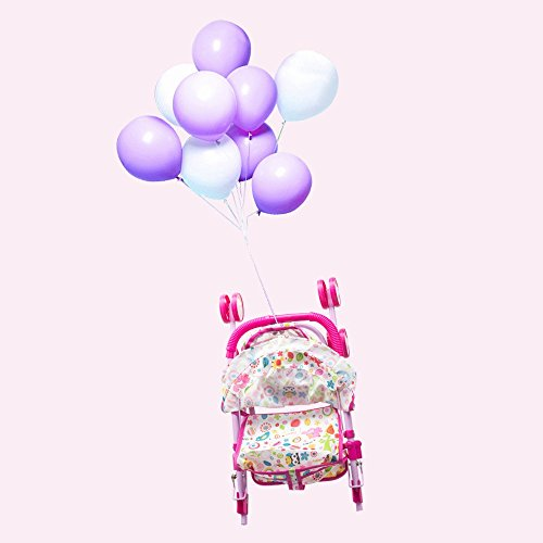 Annie's Collection Baby Doll Stroller with Doll, Foldable with Basket and Adjustable Hood for Girls Aged 1-2 Years Old by Annie's Collection (Image #5)