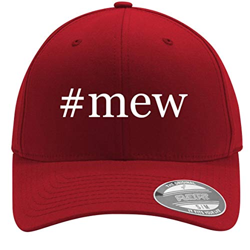 #mew - Adult Men's Hashtag Flexfit Baseball Hat Cap, Red, Large/X-Large]()