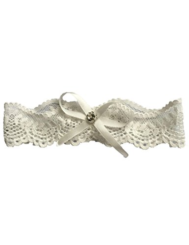 Libaosha Vintage Stretchable Garters With Bowknot Lace Wedding Garter For Bride (Ivory)