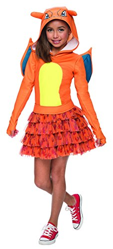 Rubie's Costume Pokemon Charizard Child Hooded Costume Dress Costume, (Pokemon Girl)
