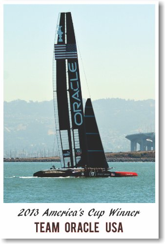 (2013 Americas Cup Winner Team Oracle - NEW Sailing Sports Poster )