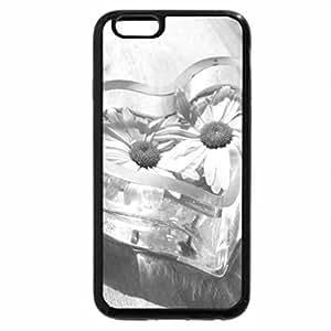 iPhone 6S Plus Case, iPhone 6 Plus Case (Black & White) - Daisy Heart