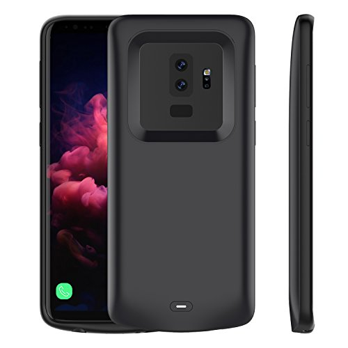 Samsung Galaxy S9 Plus Battery Case, LifeePro Slim 5200mAh Rechargeable Portable Battery Juice Pack External Power Bank Backup Charging Protective Case for Samsung Galaxy S9 Plus Smartphone Black