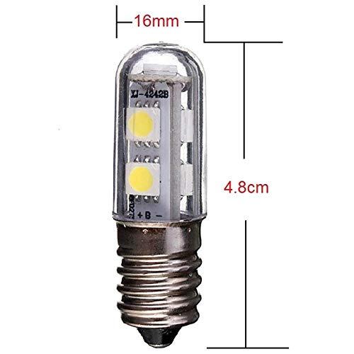 E14 Bombilla LED para lámpara de refrigerador, 1W, 220V CA, 7 leds ...