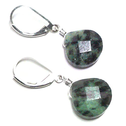 Ruby in Zoisite Briolette Lever Back Earrings Sterling Silver ()