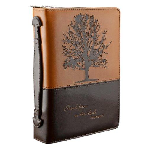 """ Stand firm in the Lord"" Two-tone Bible Cover - Philippians 4:1 (Large) "" from Christian Art Gifts"