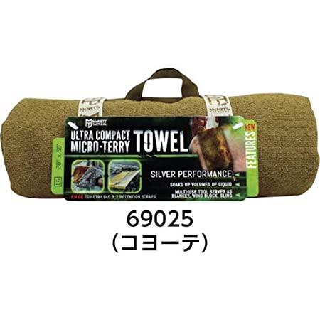 McNett Tactical Ultra-Compact Micro-Terry Towel Large Coyote 69025