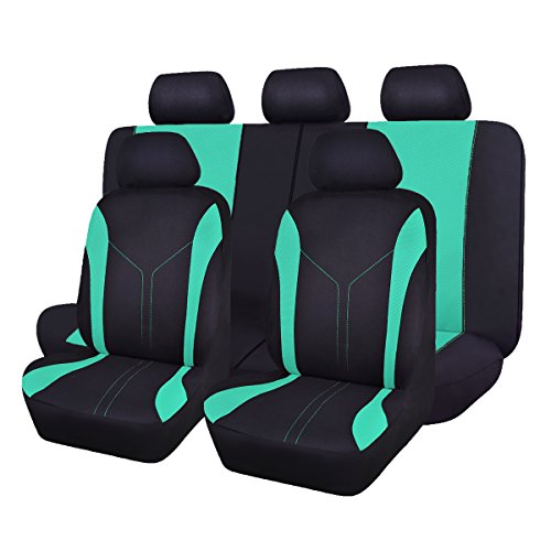 - Flying Banner Mint Green Mesh Universal Auto Car Seat Covers Set for Women Full Set