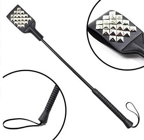 Sex Whip Flogger Riding Crop Whip AIDS, Spanking Studded Square Crop Whip, BDSM Paddle,Sex Toys for Couple by Aarring