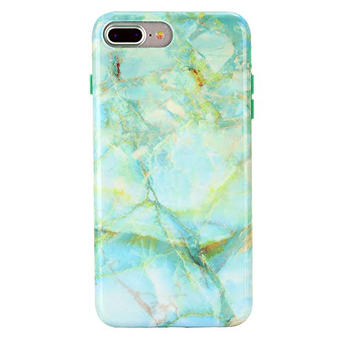 Green Marble iPhone 8 Plus Case/iPhone 7 Plus Case - Premium Protective Cover - Cute Phone Cases for Girls & Women [Drop Test Certified] ()