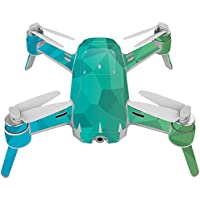 Skin For Yuneec Breeze 4K Drone – Blue Green Polygon | MightySkins Protective, Durable, and Unique Vinyl Decal wrap cover | Easy To Apply, Remove, and Change Styles | Made in the USA