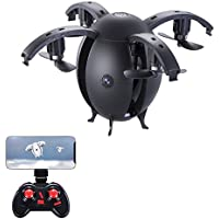 NiGHT LiONS TECH N668 RC Flying Egg, Foldable RC Quadcopter With Wifi FPV HD Camera Drone (black)