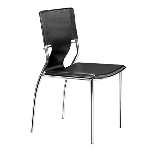 Trafico Set - Zuo Trafico Dining Chair (Set of 4), Black