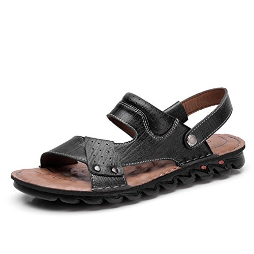 Uomo 3 Per Estiva 0 24 pantofole Sandali 41 Antiscivolo 0 Pelle Colore Wagsiyi Neri In spiaggia CM Nero da Scarpe 27 Dimensione Sandali Nero Traspiranti EU Sandali 1 x84XwIO