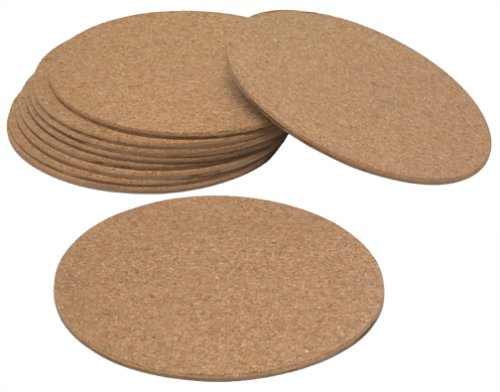 California Plastic Products CM12-12  12 inches Cork Mat, Pack of -