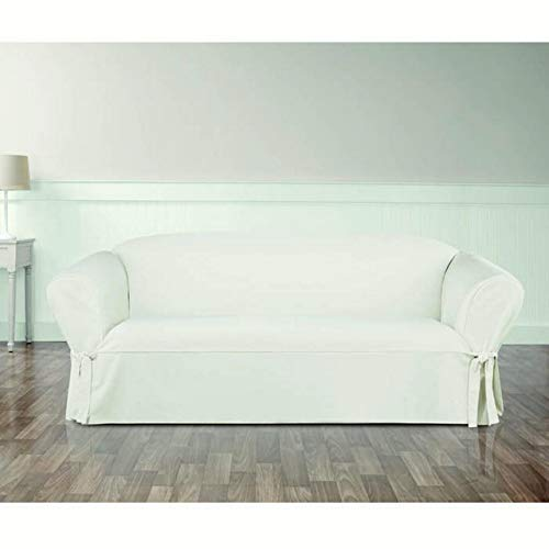 Sure Fit Essential Twill Sofa Slipcover with Scotchgard Prot
