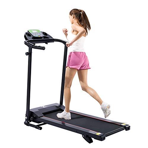 Z ZELUS Loopband, inklapbaar, 10 km/u, bluetooth treadmill met 12 programma's, loopvlak, 100 x 36 cm, hometrainer…