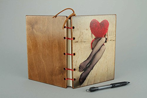Leather Notebook ''Sexy'' by MadeHeart | Buy handmade goods