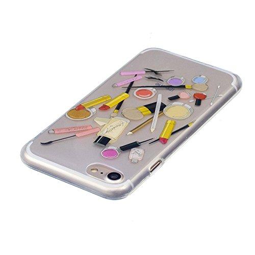 iPhone 7 Coque Produits de beauté Premium Gel TPU Souple Silicone Transparent Clair Bumper Protection Housse Arrière Étui Pour Apple iPhone 7 + Deux cadeau