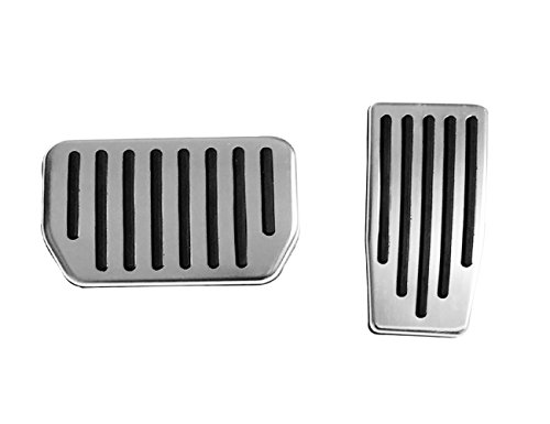 Topfit Non-Slip Performance Foot Pedal Pads,Auto Aluminum Pedal Covers for Model 3(A Set of 2)
