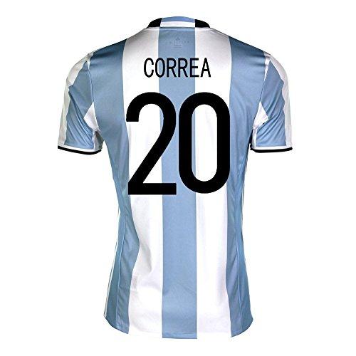 危険にさらされている災難抑圧者adidas Correa #20 Argentina Home Soccer Jersey Copa America Centenario 2016 YOUTH/サッカーユニフォーム アルゼンチン ホーム用 コレア ジュニア向け